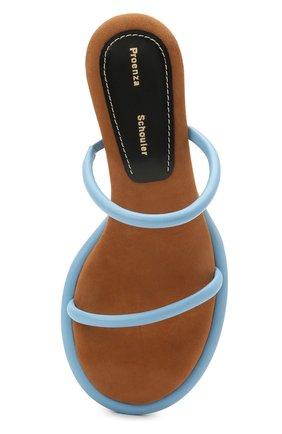 Женские кожаные мюли PROENZA SCHOULER голубого цвета, арт. PS36113A/13111   Фото 5