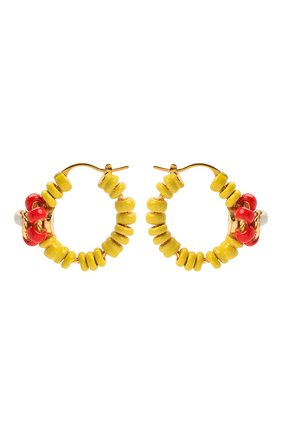 Женские серьги BOTTEGA VENETA желтого цвета, арт. 651125/VAHU4   Фото 1