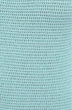 Женское хлопковое платье BOTTEGA VENETA голубого цвета, арт. 656578/V0S90 | Фото 5