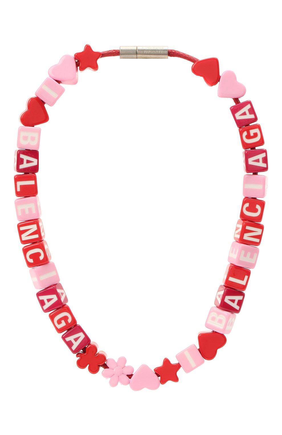 Женское колье toy BALENCIAGA красного цвета, арт. 649435/TZX4S   Фото 1