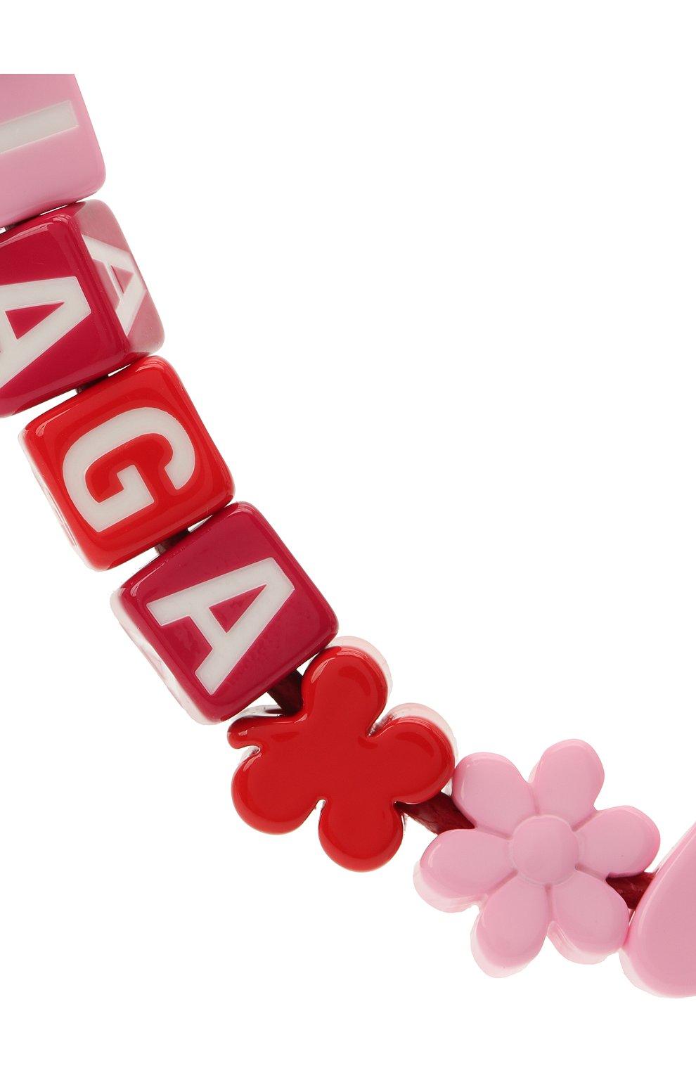 Женское колье toy BALENCIAGA красного цвета, арт. 649435/TZX4S   Фото 2