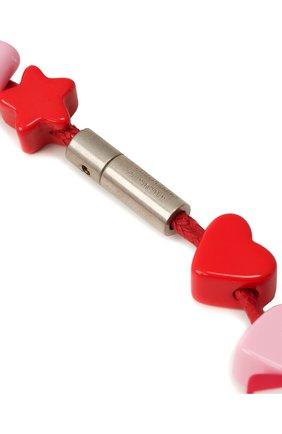 Женское колье toy BALENCIAGA красного цвета, арт. 649435/TZX4S   Фото 3
