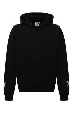 Мужской хлопковое худи kenzo sport KENZO черного цвета, арт. FA65SW5304MS | Фото 1
