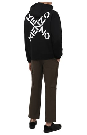 Мужской хлопковое худи kenzo sport KENZO черного цвета, арт. FA65SW5304MS | Фото 2