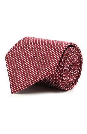 Мужской шелковый галстук BRIONI красного цвета, арт. 062H00/P0427   Фото 1