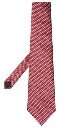 Мужской шелковый галстук BRIONI красного цвета, арт. 062H00/P0427   Фото 2