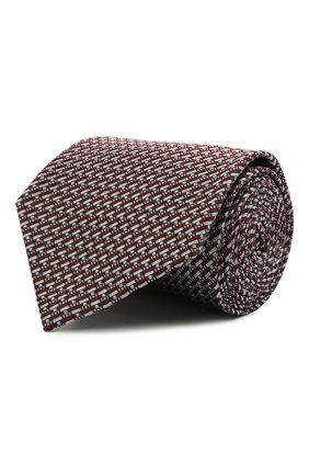 Мужской шелковый галстук BRIONI коричневого цвета, арт. 062H00/P0435 | Фото 1