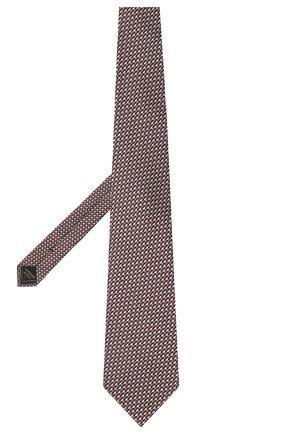 Мужской шелковый галстук BRIONI коричневого цвета, арт. 062H00/P0435 | Фото 2