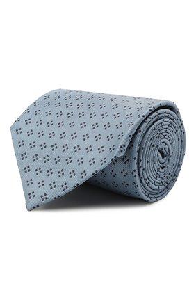Мужской шелковый галстук BRIONI голубого цвета, арт. 062H00/P0436   Фото 1