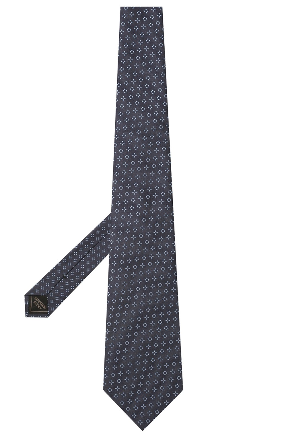 Мужской шелковый галстук BRIONI темно-синего цвета, арт. 062H00/P0436 | Фото 2 (Принт: С принтом; Материал: Текстиль, Шелк)