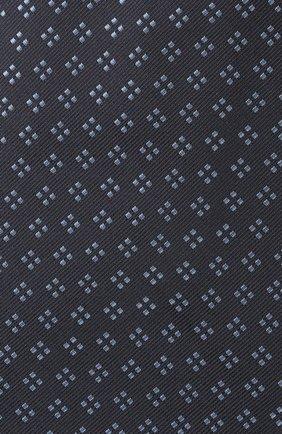 Мужской шелковый галстук BRIONI темно-синего цвета, арт. 062H00/P0436 | Фото 3 (Принт: С принтом; Материал: Текстиль, Шелк)