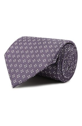 Мужской шелковый галстук BRIONI сиреневого цвета, арт. 062H00/P0436 | Фото 1