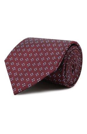 Мужской шелковый галстук BRIONI бордового цвета, арт. 062H00/P0436   Фото 1