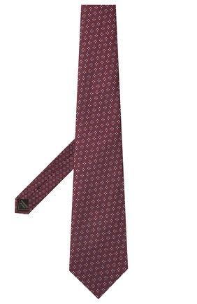 Мужской шелковый галстук BRIONI бордового цвета, арт. 062H00/P0436   Фото 2