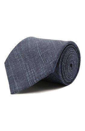 Мужской комплект из галстука и платка BRIONI синего цвета, арт. 08A900/P040Q   Фото 1 (Материал: Текстиль, Шелк, Лен)