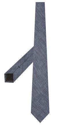 Мужской комплект из галстука и платка BRIONI синего цвета, арт. 08A900/P040Q   Фото 2 (Материал: Текстиль, Шелк, Лен)