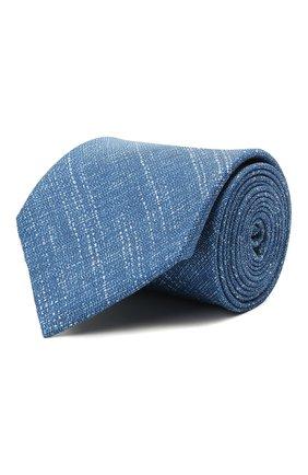 Мужской комплект из галстука и платка BRIONI голубого цвета, арт. 08A900/P040Q   Фото 1 (Материал: Шелк, Лен, Текстиль)