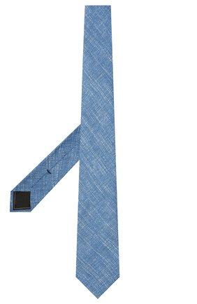 Мужской комплект из галстука и платка BRIONI голубого цвета, арт. 08A900/P040Q   Фото 2 (Материал: Шелк, Лен, Текстиль)