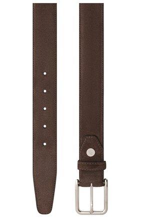 Мужской замшевый ремень BRIONI темно-коричневого цвета, арт. 0B1A0L/09722 | Фото 2