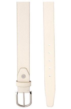 Мужской кожаный ремень BRIONI белого цвета, арт. 0BAN0L/09719 | Фото 2