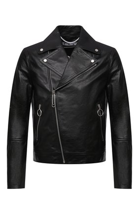 Мужская кожаная куртка OFF-WHITE черного цвета, арт. 0MJG017S21LEA001 | Фото 1