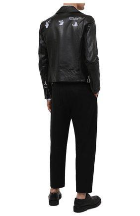 Мужская кожаная куртка OFF-WHITE черного цвета, арт. 0MJG017S21LEA001 | Фото 2