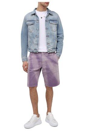 Мужская джинсовая куртка OFF-WHITE голубого цвета, арт. 0MYE054S21DEN005 | Фото 2