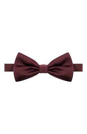 Мужской комплект из галстука-бабочки и камербанда CANALI бордового цвета, арт. 55/HJ01047 | Фото 2
