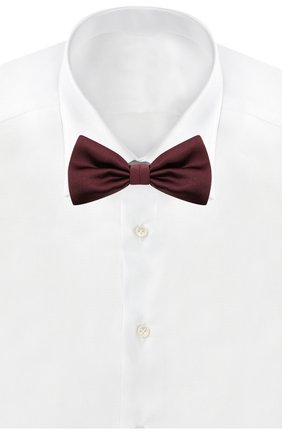 Мужской комплект из галстука-бабочки и камербанда CANALI бордового цвета, арт. 55/HJ01047 | Фото 3