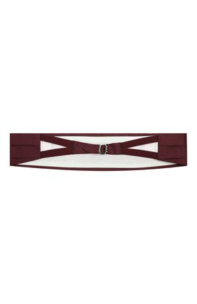 Мужской комплект из галстука-бабочки и камербанда CANALI бордового цвета, арт. 55/HJ01047 | Фото 6