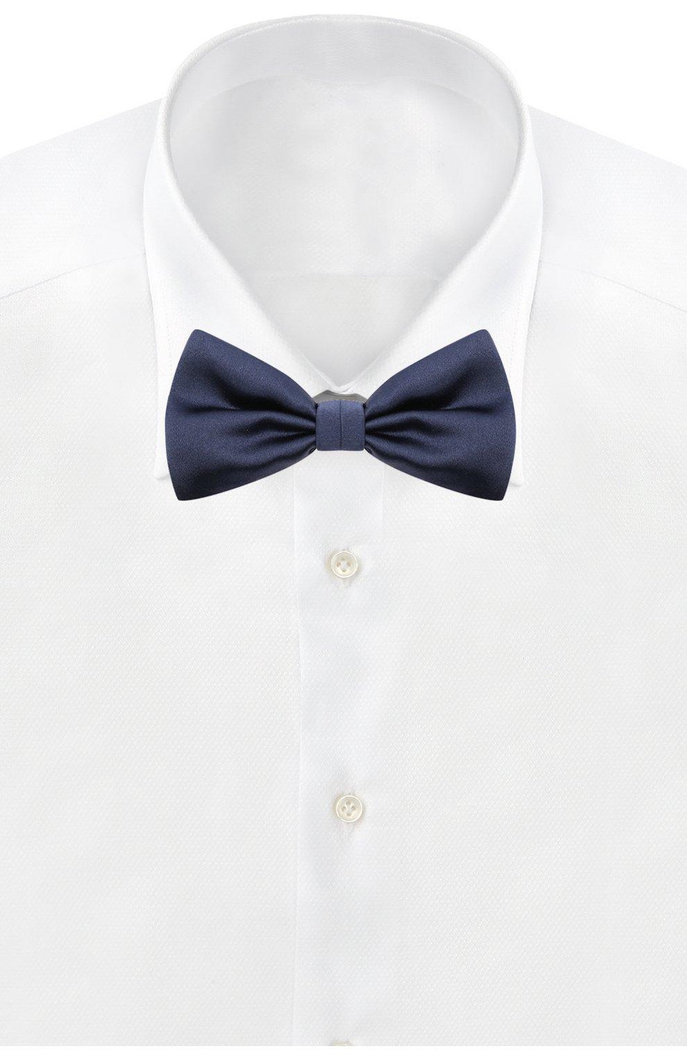Мужской комплект из галстука-бабочки и камербанда CANALI темно-синего цвета, арт. 55/HJ01047 | Фото 3