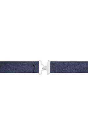 Мужской комплект из галстука-бабочки и камербанда CANALI темно-синего цвета, арт. 55/HJ01047 | Фото 4
