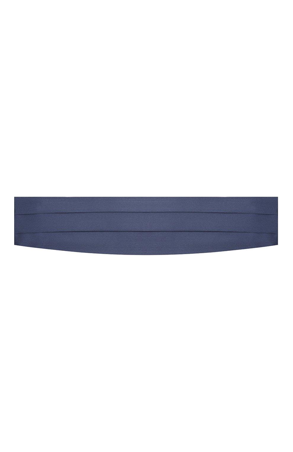 Мужской комплект из галстука-бабочки и камербанда CANALI темно-синего цвета, арт. 55/HJ01047 | Фото 5