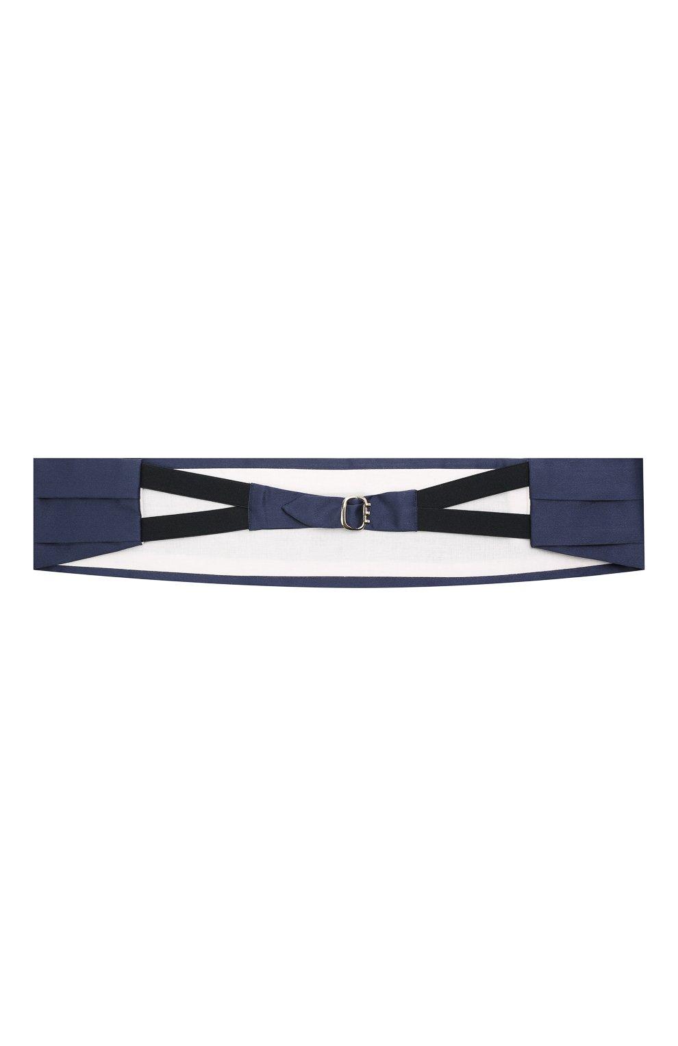 Мужской комплект из галстука-бабочки и камербанда CANALI темно-синего цвета, арт. 55/HJ01047 | Фото 6