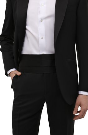 Мужской комплект из галстука-бабочки и камербанда CANALI черного цвета, арт. 55/HJ00040 | Фото 3