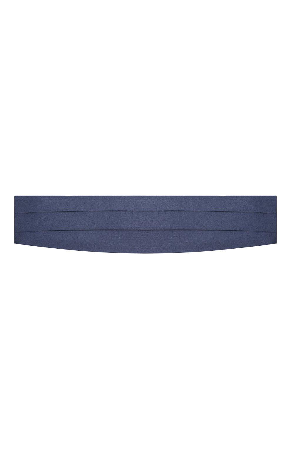 Мужской комплект из галстука-бабочки и камербанда CANALI темно-синего цвета, арт. 45/HJ01047 | Фото 5