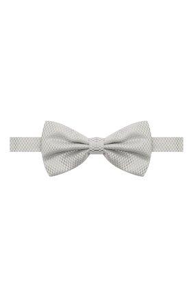 Мужской шелковый галстук-бабочка CANALI серого цвета, арт. 02/HJ03187 | Фото 1