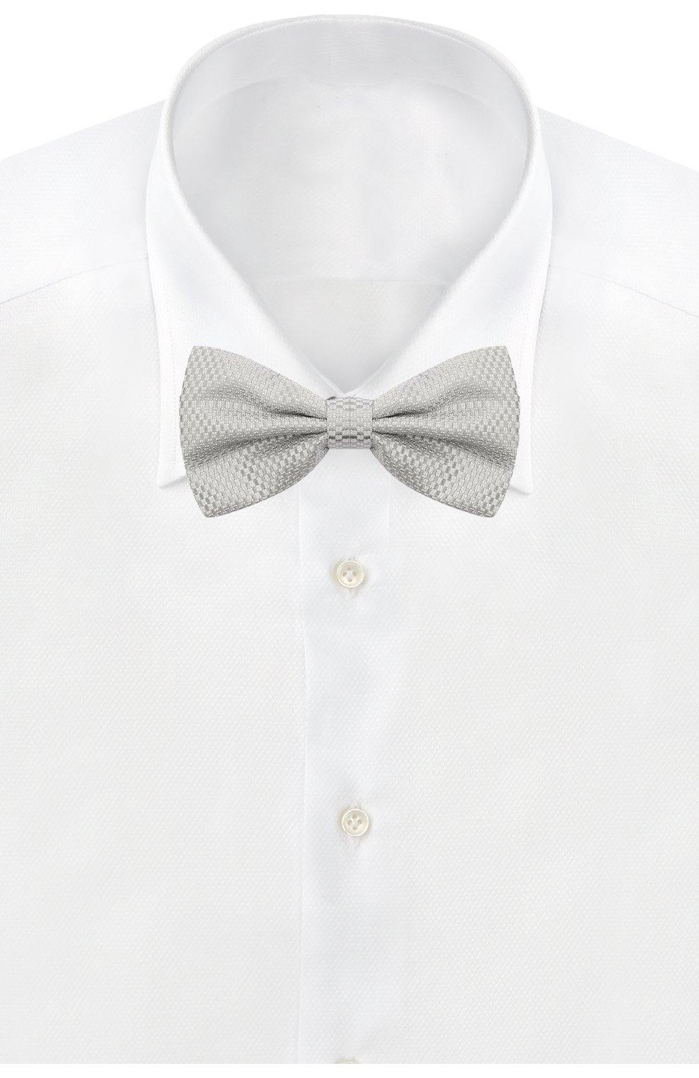 Мужской шелковый галстук-бабочка CANALI серого цвета, арт. 02/HJ03187 | Фото 2