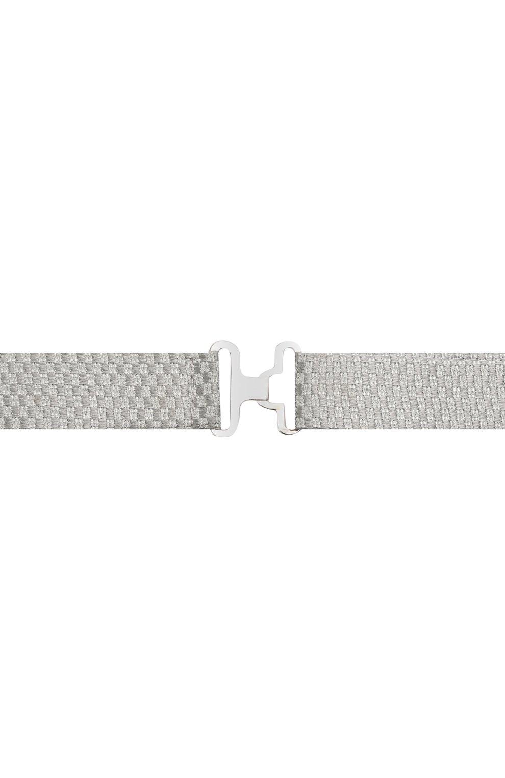 Мужской шелковый галстук-бабочка CANALI серого цвета, арт. 02/HJ03187 | Фото 3