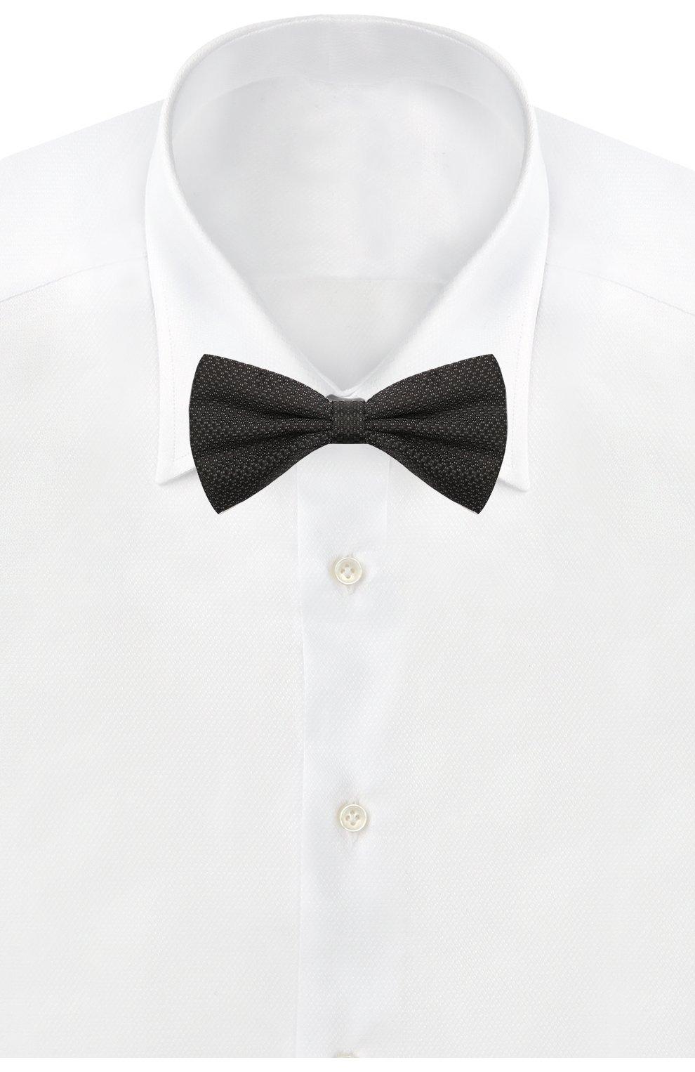 Мужской шелковый галстук-бабочка CANALI черного цвета, арт. 02/HJ03189   Фото 2
