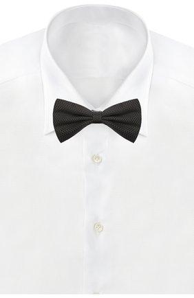 Мужской шелковый галстук-бабочка CANALI черного цвета, арт. 02/HJ03189 | Фото 2
