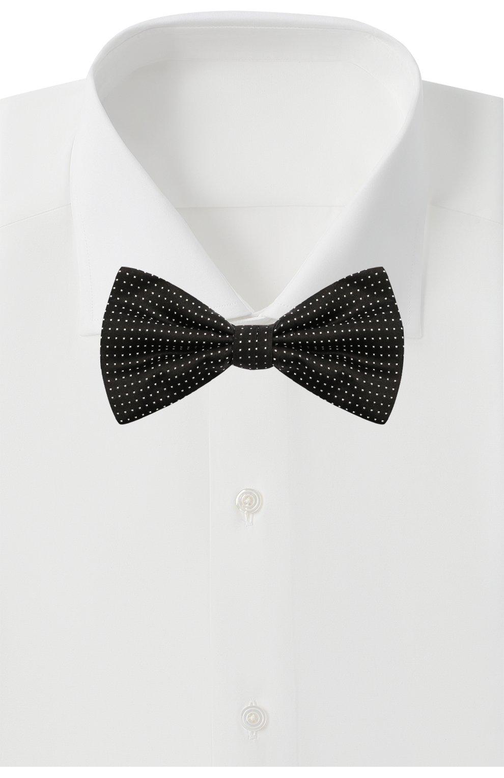 Мужской шелковый галстук-бабочка CANALI черного цвета, арт. 02/HJ03244   Фото 2