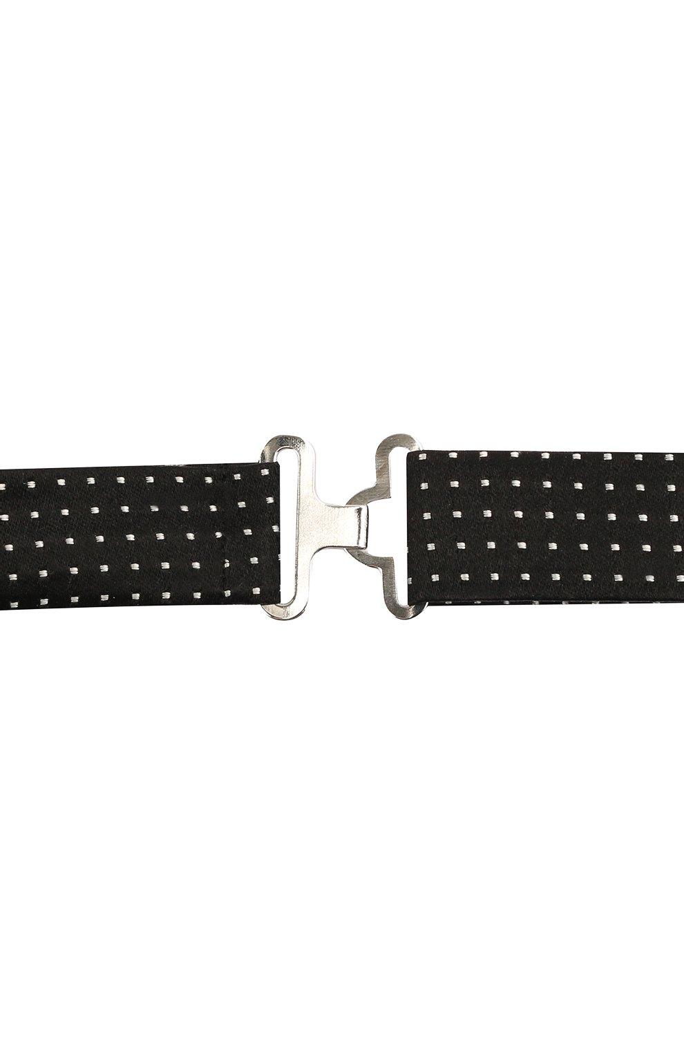 Мужской шелковый галстук-бабочка CANALI черного цвета, арт. 02/HJ03244   Фото 3