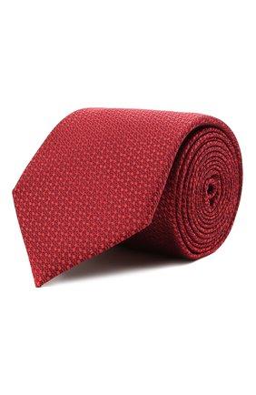 Мужской шелковый галстук CANALI красного цвета, арт. 24/HJ03122 | Фото 1