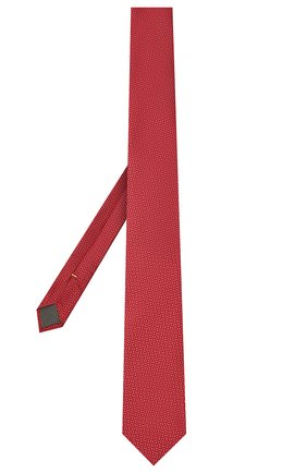 Мужской шелковый галстук CANALI красного цвета, арт. 24/HJ03122 | Фото 2