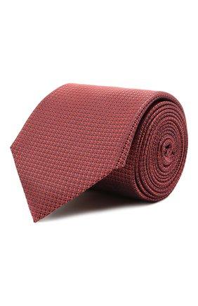 Мужской шелковый галстук CANALI красного цвета, арт. 24/HJ03125 | Фото 1