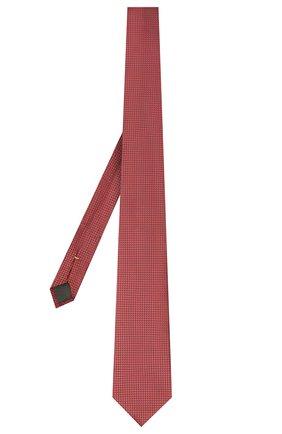 Мужской шелковый галстук CANALI красного цвета, арт. 24/HJ03125 | Фото 2