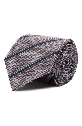 Мужской шелковый галстук CANALI сиреневого цвета, арт. 24/HJ03165   Фото 1
