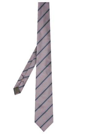 Мужской шелковый галстук CANALI сиреневого цвета, арт. 24/HJ03165   Фото 2