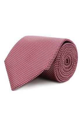 Мужской шелковый галстук CANALI розового цвета, арт. 70/HJ03121   Фото 1
